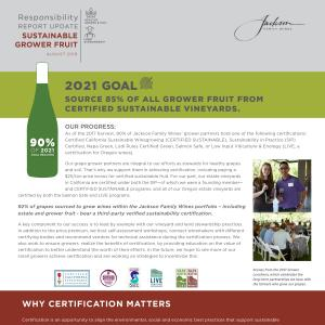 Jackson Family Wines Responsibility Report - Sustainable Grower Fruit
