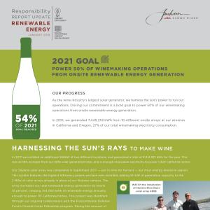 Jackson Family Wines Responsibility Report Update - Renewables