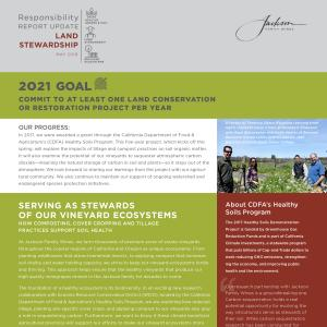 Jackson Family Wines Responsibility Report - Land